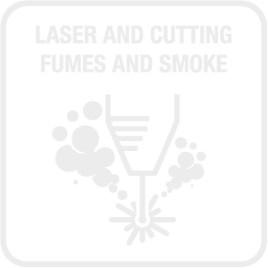 Laser Cutting Fumes and Smoke Icon