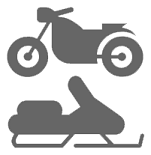 Motorcycle and ATV Exhaust Removal Icon